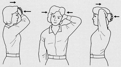 頸椎の等尺性筋強化運動 (ISE)